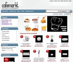 Cafemarkt yepyeni bir web sayfası