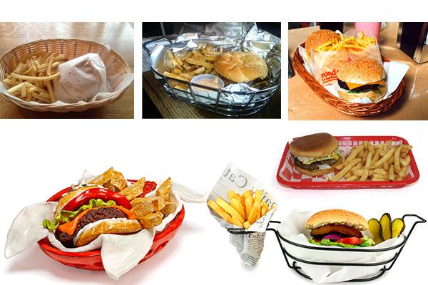 sepet hamburger sunumlari