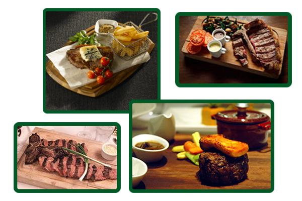 Steak tahtasında biftek sunum