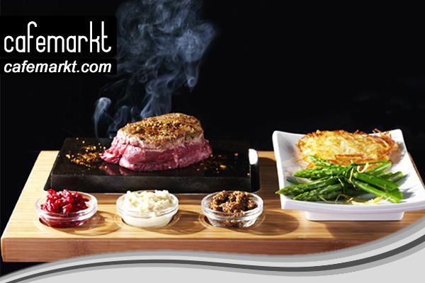 Ahşap steak sunum