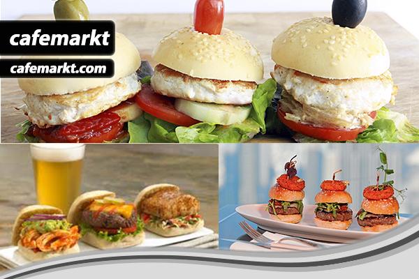 Trio fast food sunum
