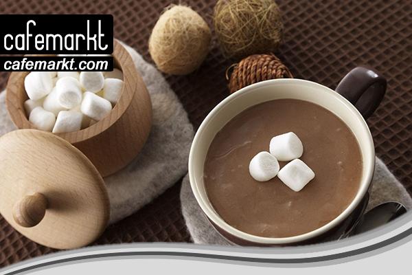 Marshmellow ve sıcak çikolata