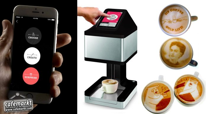Kahve süsleme makinası ripples-Cafemarkt